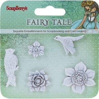 Stel Items polymeer Fairy Tale Birds