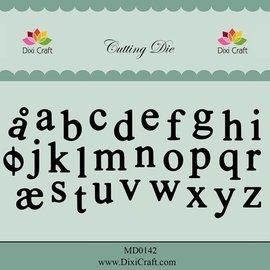 Docrafts / X-Cut Dixi-craft, corte y estampado de plantilla: letras minúsculas del alfabeto