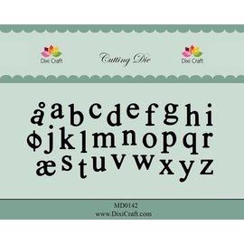 Docrafts / X-Cut Dixi-craft, gabarit de découpe et gaufrage: Alphabet minuscules