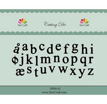 Docrafts / X-Cut Dixi-craft,  skæring og prægning skabelon: Alfabet små bogstaver