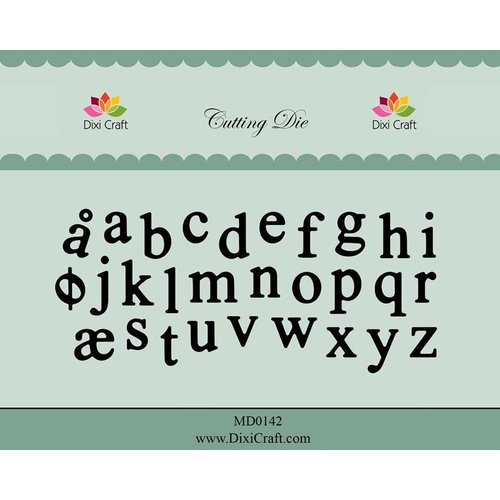 Docrafts / X-Cut Dixi-craft,  cutting and embossing template: Alphabet lowercase letters