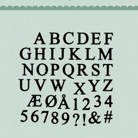 Docrafts / X-Cut Dixi-craft,   corte y estampado: letras mayúsculas del alfabeto