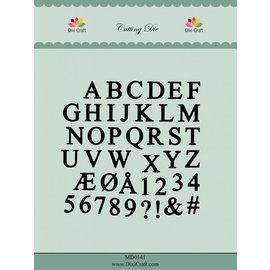 Docrafts / X-Cut Dixi-craft,  Stanz- und Prägeschablone:  Alphabet Grossbuchstaben