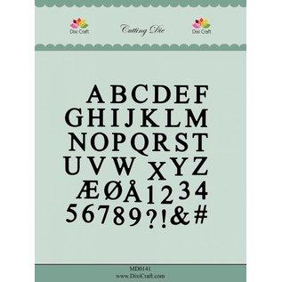 Docrafts / X-Cut Dixi-craft,   X-Cut, Snij en embossingmal: Alfabet in Hoofdletters