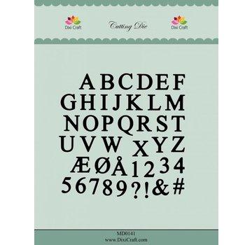 Docrafts / X-Cut Dixi-craft,  skæring og prægning skabelon: Alfabetet store bogstaver