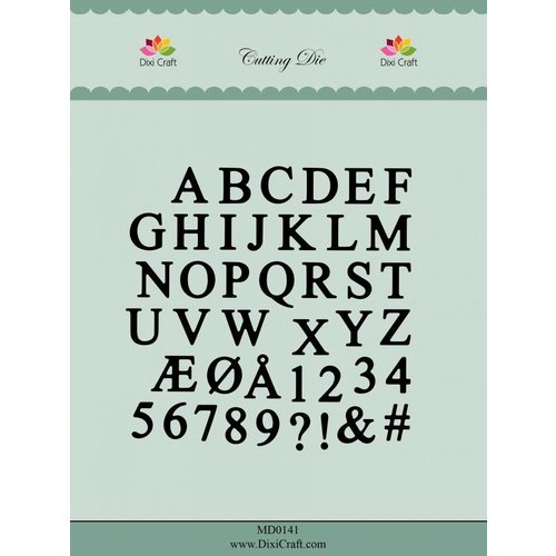 Docrafts / X-Cut Dixi-craft,  cutting and embossing template: Alphabet capital letters