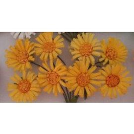 BLUMEN (MINI) UND ACCESOIRES Paper flowers, 8 daisies