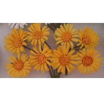 BLUMEN (MINI) UND ACCESOIRES fiori di carta, margherite 8