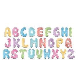 Cottage Cutz Cottage Cutz, Snij en embossingmal: Stitched Alphabet