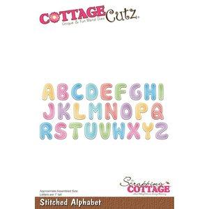 Cottage Cutz Cottage Cutz, Stanz- und Prägeschablone:  Stitched Alphabet