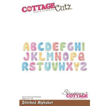 Cottage Cutz Cottage Cutz, skæring og prægning skabelon: Stitched Alphabet