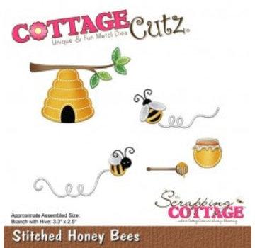 Cottage Cutz Cottage Cutz, Snij  en embossing sjabloon: Stitched Honey Bees