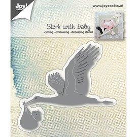 Joy!Crafts / Jeanine´s Art, Hobby Solutions Dies /  Joy!Crafts, Snij  en embossing sjabloon: ooievaar mit Baby