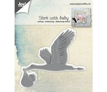 Joy!Crafts / Jeanine´s Art, Hobby Solutions Dies /  Joy!Crafts, Stanz- und Prägeschablone: Storch mit Baby