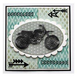 Joy!Crafts / Jeanine´s Art, Hobby Solutions Dies /  Alegría! Plantilla de manualidades, corte y estampado: motocicleta