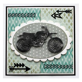 Joy!Crafts / Jeanine´s Art, Hobby Solutions Dies /  Joy! Crafts, cutting and embossing template: moto