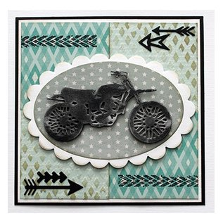 Joy!Crafts / Jeanine´s Art, Hobby Solutions Dies /  Joy!Crafts, cutting and embossing template: motorcycle