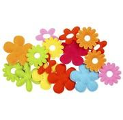Embellishments / Verzierungen 20 Filz Blumen, größte Größe 35x45 mm, Stärke: 1,2 mm