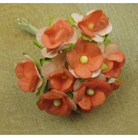 BLUMEN (MINI) UND ACCESOIRES 10 mini Blumchen, tamaño de aproximadamente 12 mm