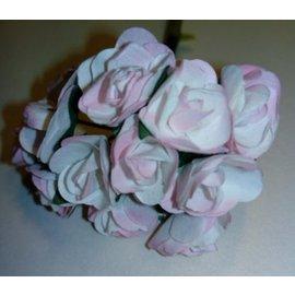 BLUMEN (MINI) UND ACCESOIRES 12 rosas, formato de 15 mm