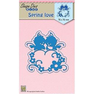 Nellie Snellen Nellie Snellen, Snij en emboss mall / sjabloon: Liefde van de lente