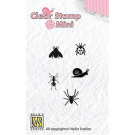 Nellie Snellen Nellie Snellen, timbre transparent: mini-insectes