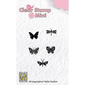 Nellie Snellen Nellie Snellen, Transparent frimærke: silhuet sommerfugle