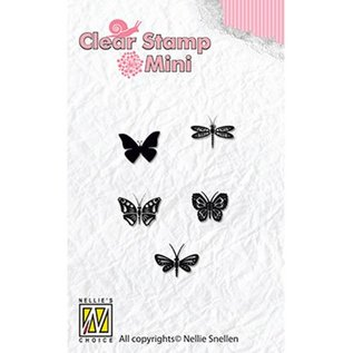 Nellie Snellen Nellie Snellen, Transparant Stempel: Silhouet van vlinders