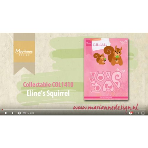 Video: Die Cutting Template: Collectable COL1410 Squirrel, Marianne Design
