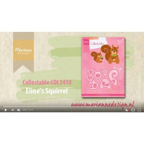 Video: stansning skabelon: Collectable COL1410 egern, Marianne Design