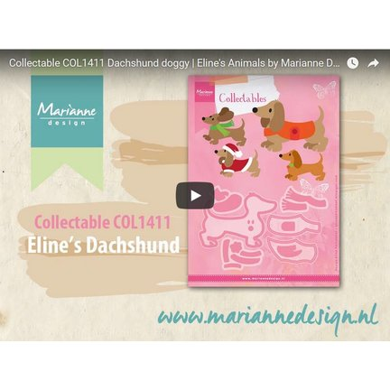 Instructions and inspiration Video: Marianne Design, COL1411, dog