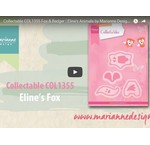 Video: Marianne Design, stansning skabelon Collectable COL1355, Fox