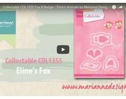 Vídeo: Marianne diseño, plantilla de perforación coleccionable COL1355, Fox