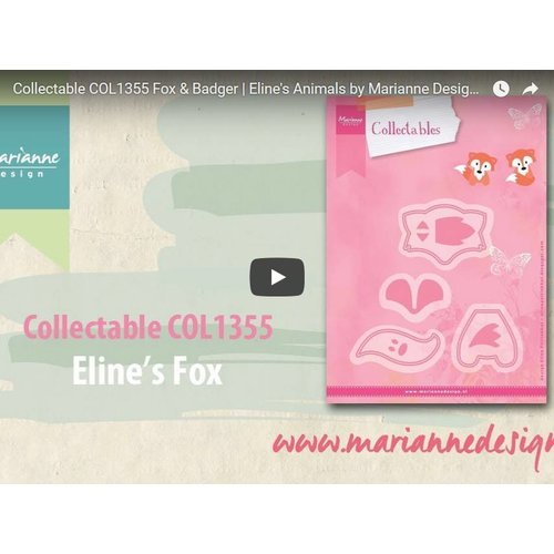 Video: Marianne Design, Die Cutting Template, Collectable COL1355, Fox
