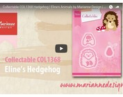 Marianne Design, Die Cutting Template, Collectable COL1368, Hedgehog