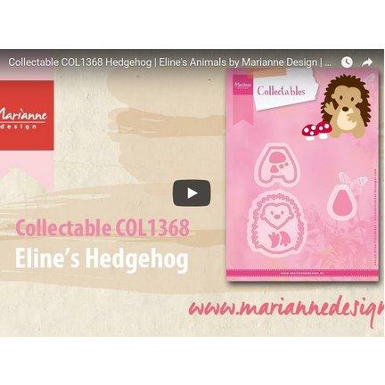 Video Anleitung von Marianne Design: Stanzschablone, Collectable COL1368, Igel