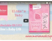 Video Marianne Design, Collectable COL1313, Baby cradle