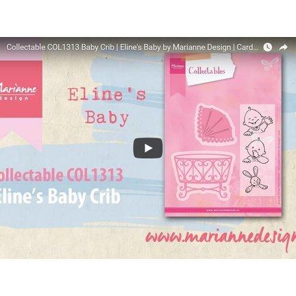 Anleitung und Inspiration Video Marianne Design, Collectable COL1313, Baby Wiege