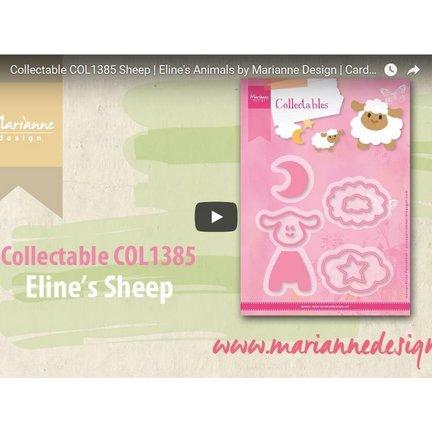 Anleitung und Inspiration Video Marianne Design, Collectable COL1385, Schaaf