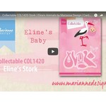 Video, Stanzschablone, Marianne Design, COL1420, Storch