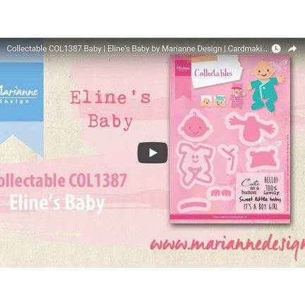 Anleitung und Inspiration Video Marianne Design, Collectable COL1387, Baby