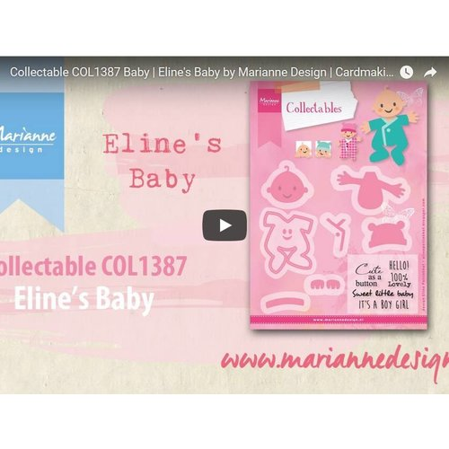 Instructions and Inspiration Video Marianne Design, Collectable COL1387, Baby