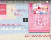 Video Marianne Design, inbaar COL1421, babykleertjes