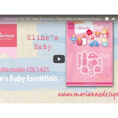 Instructions and Inspiration Video Marianne Design, Collectable COL1421, Baby Things