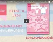 Video Marianne Design, inbaar COL1419, babykleertjes