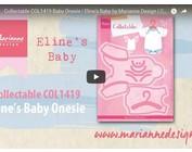 Vídeo Diseño Marianne, COL1419 coleccionable, ropa de bebé