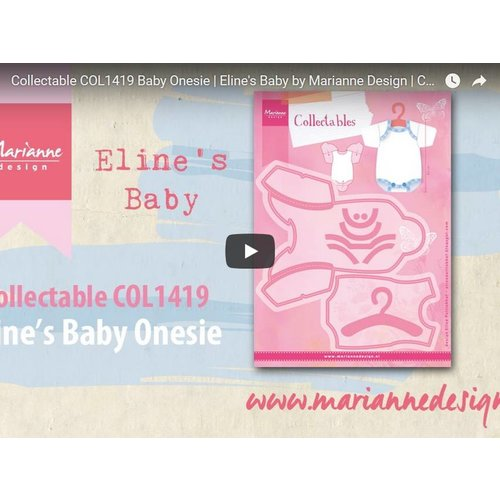 Video Marianne Design, Collectable COL1419, Baby Clothes