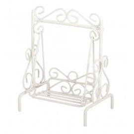 Embellishments / Verzierungen Decoration, mini porch swing, 7x5x9cm