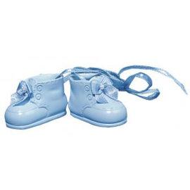 Embellishments / Verzierungen zapatos de bebé polyresin, 4 cm, la caja 1 par, h.blau