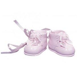 Embellishments / Verzierungen Polyresin baby schoenen, 4 cm, Box 1 paar, rosé